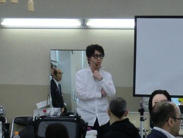 坂口拓也先生(鹿児島)を招いて、鹿児島早苗会の2018年最初の講習会が開催された(2018.4.2)