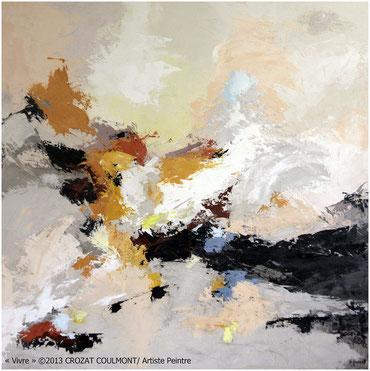 Artiste peintre français/ Peinture d'Art Abstrait (Enduit de Chaux/ bois)/ Abstraction