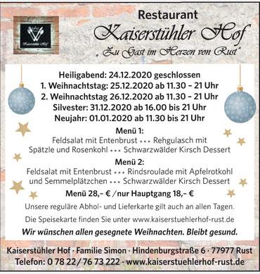 Willkommen im Kaiserstühler Hof in Rust