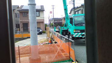 森充ギター教室のあった西金沢、旧住所のすぐ隣に巨大な電柱が!