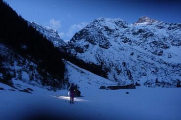Skitour, Tödi, Tagestour, Tödi an einem Tag, Tierfehd, Tentiwang