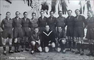 Deutscher Fußballmeister 1951 - 1. FC Kaiserslautern (Foto: Bachem)