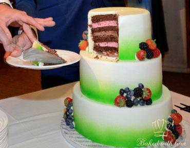 bruidstaart met lekkere vulling uit Hilvarenbeek