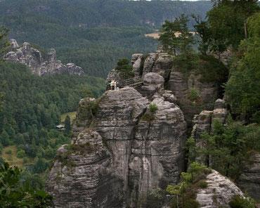 Teilansicht der Felsenburg Neurathen die ca. seit 1261 besteht