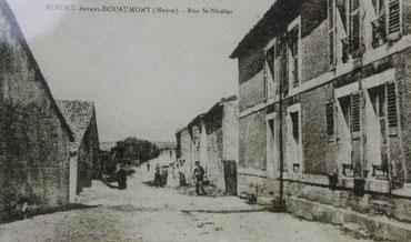 Das Dorf Fleury-devant-Douaumont vor der Zerstörung