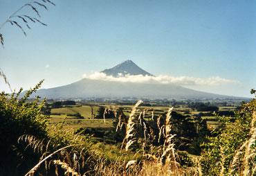 Mount Taranaki, Neuseeland, Milchindustrie. Foto: Helge Stroemer