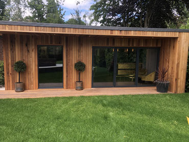 Garden Room, Games Room, Bar Room, Cedar Cladding, Garden, St Albans, Hertfordshire, Rodea Interiors