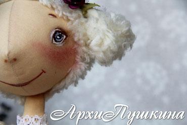 Ольга АрхиПушкина, авторские интерьерные куклы ручной работы, текстильные