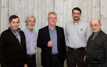 Der neue Vorstand der Natur- und Umwelthilfe Goslar, v. l. n. r.: Vorsitzender Volker Schadach, Stellvertreter Gerwin Bärecke, Stellvertreter Hubert Spaniol, Schriftführer Rüdiger Domnick sowie Schatzmeister Udo Behr.