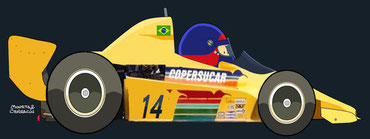 Helmet of Emerson Fittipaldi by Muneta & Cerracín