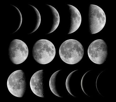 Quelle que soit la phase, la Lune nous montre toujours la même face.