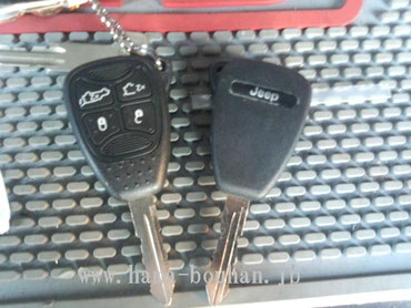 元キー(左)と追加したキー(右)