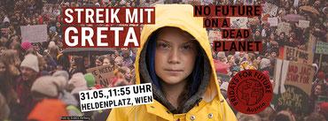 31.5.19 Wien: Streik mit GRETA - No Future On a Dead Planet: Bild Fridays for Future Vienna  Foto Anders Hellberg