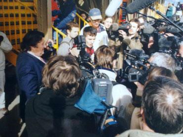L'arrivée pour le record à la tour EIFFEL en 2002