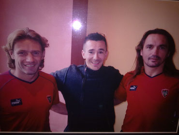 Avec mon ami Aubin HUEBERT et Thierry LOUVET à l'époque entraîneurs du RCT.