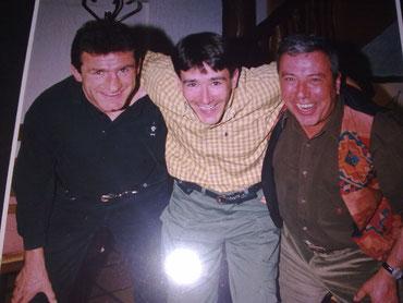 Avec mes amis Louisou ARMARY (ancien capitaine de l'équipe de France, 3 coupes du monde...) et Jean Louis FABRE