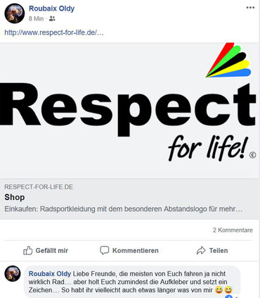 Pressebericht über Respect for life Trikots