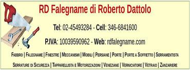 RD Falegname di Roberto Dattolo - P.IVA 10039590962
