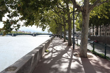 Boulevard an der Rhône in Lyon