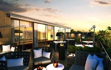 Dachterrasse im Design-Hotel in Oslo
