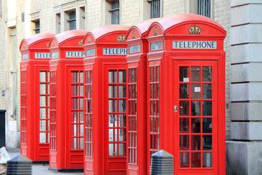 Telefonhäuschen in London