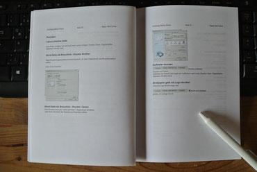 Wie erstelle ich ein Handbuch?