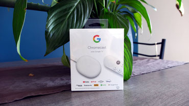 Chromecast avec Google TV packaging