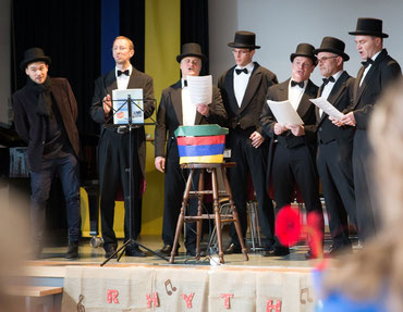 Kultus-Harmonist´s mit Gastsänger Florian (links). Foto: Erich Hirsch