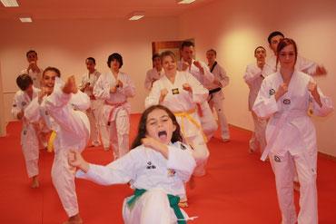 Unsere Taekwondo Gruppe am Freitag, Dez.2012