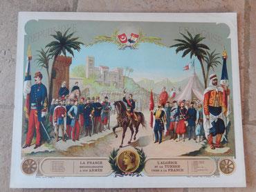 affiche algérie et tunisie unies a la france