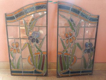 paire de vitraux