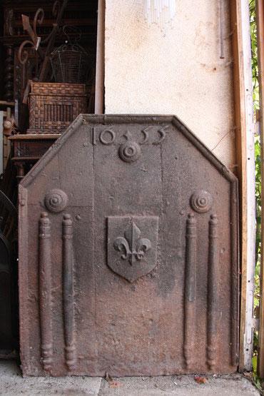 plaque de cheminée 1655