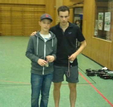 Nico Schmitt und Marc Weber wurden Zweiter im Herren A-Doppel