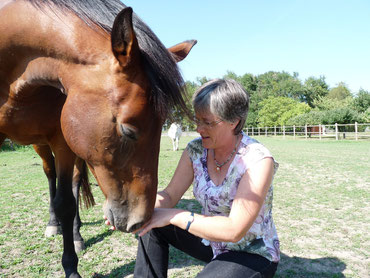 Françoise Héroult, thérapeute avec le cheval de l'association Cheval et Sens
