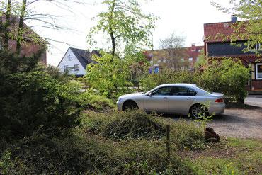 Der Blick in Richtung Parkplatz