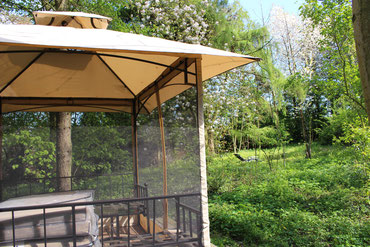 Der Gartenpavillon und der Garten