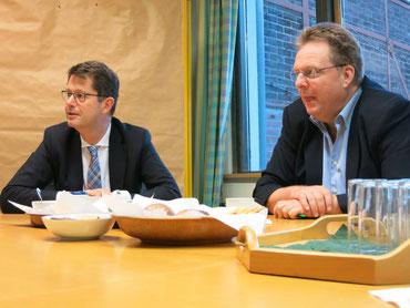 Stefan Ferber (links) Leiter des Umweltamts und Thomas Loosen, Abteilungsleiter zentr. Dienste und kommunale Abfallwirtschaft