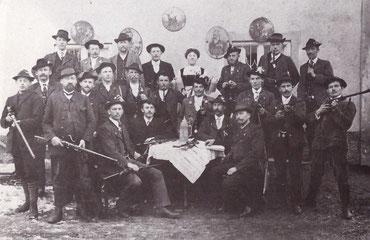 Zimmerstutzengesellschaft Westerndorf im Februar 1911