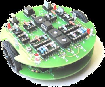 grüner Prototyp vom Roboter tibo