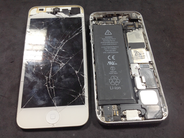 iPhone5 ガラス割れ修理