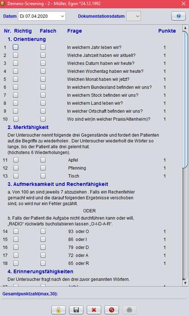abasoft Praxissoftware Demenz Demenz-Screening Arztsoftware Praxissoftware