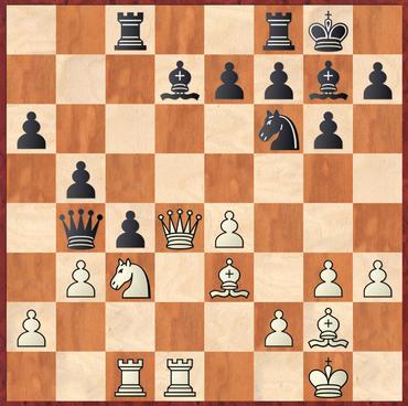 Wolter - Gottas: Schwarz ging hier an der Möglichkeit vorbei mit 19. ... Sg4! in Vorteil zu kommen. 20.Dxd7 Sxe3 21.fxe3 Lxc3 22.bxc4 bxc4 und Schwarz besitzt einen starken Freibauern