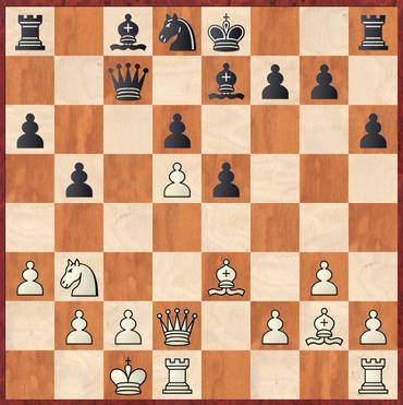Lehmann - Maniocha: 16.f4 Sb7 17.fxe5 dxe5 18.d6! hätte Weiß hier in sehr deutlichen Vorteil bringen können