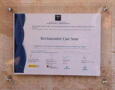 Auszeichnung vom Touristik-Ministerium der Balearen