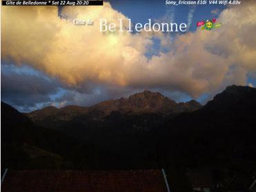 Webcam : vue du Ferrouillet à partir du Gite de Belledonne