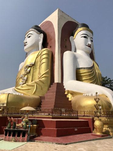 Vier Buddhas von Kyaikpun Paya