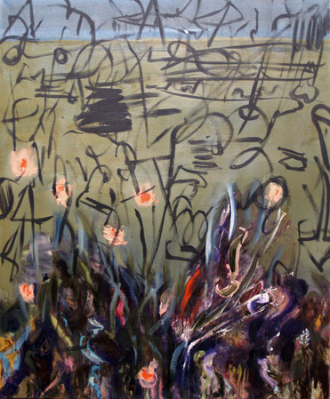 landscape IV, 2018, oil on canvas, 120 x 100 cm