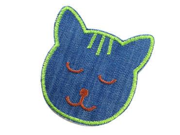 Katze Jeansflicken Knieflicken Hosenflicken Flicken zum aufbügeln für Kinder