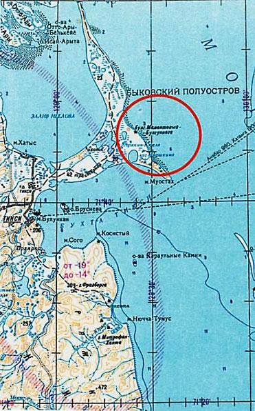 Карта находки мамонта