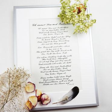 Kalligrafie Konfirmation - ein ganz exklusives Geschenk
